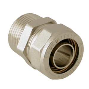 NICKEL-PLATED BRASS STRAIGHT NIPPLE MALE