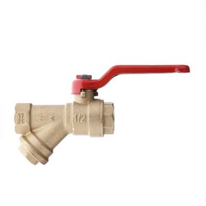 BRASS BALL VALVES WITH Y FILTER