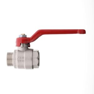"BRASS ""POKER"" BALL VALVE FULL BORE M.F."