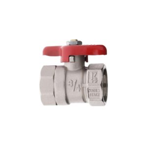 "BRASS ""PONY"" BALL VALVE REDUCED BORE WITH WING HANDLE F.F."