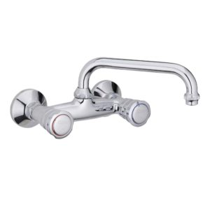 "WALL SINK MIXER HEAVY MODEL WITH ""BISCOTTO"" SWIVEL SPOUT"